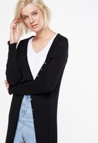Cotton On - Rib fine duster - black