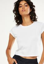 Cotton On - The baby rib short sleeve tee - white