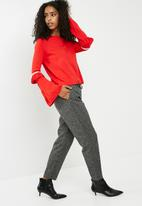 ONLY - Ellen pullover knit - red