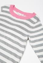 name it - Kurdi knit dress - grey melange