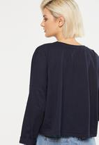 Cotton On - Joanie chop boxy long sleeve - navy