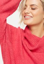 Cotton On - Monty roll neck luxe pullover - pink