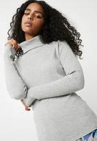 Vero Moda - Hermosa rollneck knit - light grey melange
