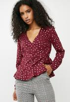 Vero Moda - Henna blouse - burgundy