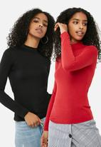 dailyfriday - 2 pack turtle neck top
