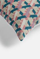 Grey Gardens - 20's Geo cushion cover