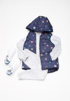 Cotton On - Kids rose reversible puffer vest