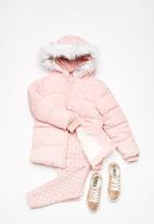 8dc00a6bc Kids davina puffer jacket - silver pink Cotton On Jackets & Knitwear ...