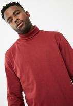 basicthread - Plain roll neck tee