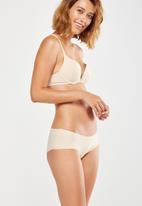 Cotton On - Seamless essential boyleg brief - nude
