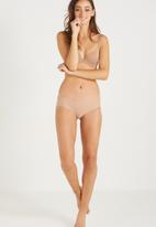 Cotton On - Party pants boyleg brief - beige