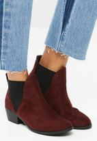 New Look - Beat Chelsea ankle boot - burgundy