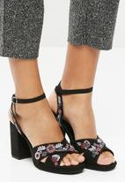 New Look - Tropical embroidered platform