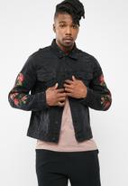 Only & Sons - Roses denim trucker jacket