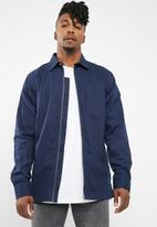 basicthread - Zip-through over-shirt - navy