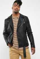 Only & Sons - Sean faux leather biker jacket