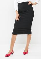 dailyfriday - Lux rib high waisted midi skirt