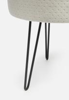 Sixth Floor - Hairpin ottoman - grey velvet