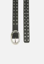 dailyfriday - Studded belt - black