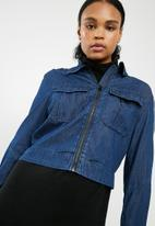 G-Star RAW - Army cropped denim jacket