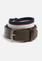 basicthread - Adam leather and canvas belt