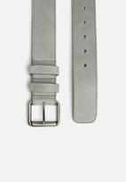 basicthread - James leather belt - grey