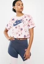 Nike - Cropped floral tee