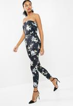 Missguided - Printed bandeau double layer jumpsuit