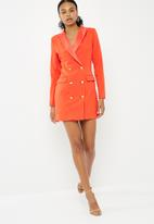 Missguided - Double breasted blazer dress - orange