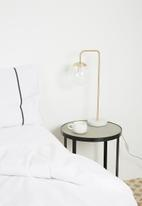 Sixth Floor - Blair table lamp - clear/gold