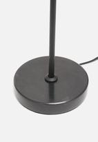 Sixth Floor - Blair table lamp - smoke/black