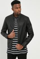 PRODUKT - Structure PU biker jacket