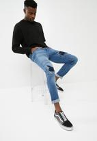 basicthread - Jax skinny biker jeans - blue