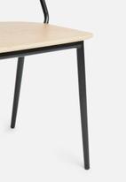Eleven Past - Manhattan chair - black