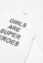 dailyfriday - Kids girls slogan long sleeve tee