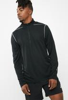 New Look - Basic mesh long sleeve zip top