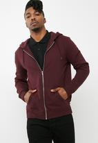New Look - Basic zip through hoodie