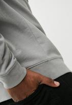 basicthread - Printed pullover crew neck sweat - grey