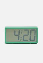 Present Time - Coy alarm clock- green