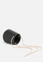 Present Time - Medium skittle hanging pot - black