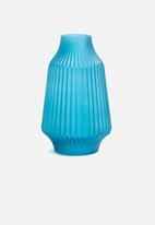 Present Time - Stripes vase - blue