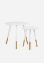 Present Time - Graceful table set - white