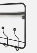 Present Time - Coat rack with shelf - black