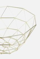 Present Time - Diamond cut basket - gold