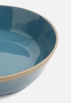 Present Time - Large brisk bowl - blue