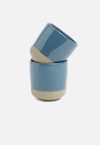 Present Time - Brisk cup set of 2 - blue