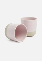 Present Time - Brisk cup set of 2 - pink