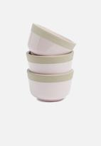 Present Time - Brisk dip bowl set of 3 - pink