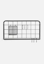 Present Time - Open grid kitchen rack set - matt black