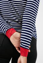 New Look - Long sleeve stripe fitted ringer top